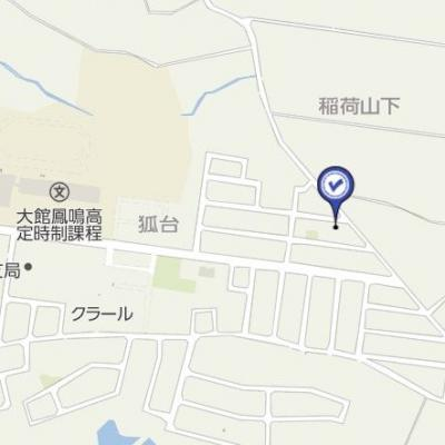 【地図】大館市柄沢字狐台7-30・売地