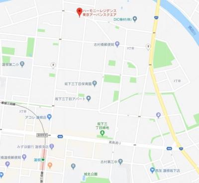 【地図】ハーモニーレジデンス東京アーバンスクエア002