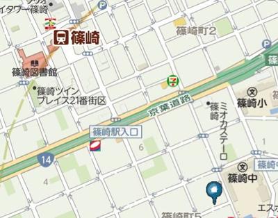 【地図】ブルージュ篠崎(ブルージュシノザキ)