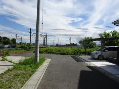 【前面道路含む現地写真】熊谷市新堀 1495万 土地