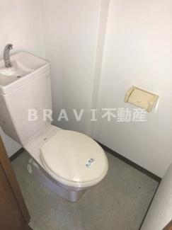 【ハイコート長堀】落ち着いた色調のトイレです