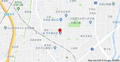 【地図】ドゥ茨木南