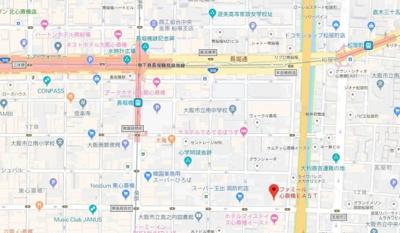 【地図】ファミール心斎橋EAST