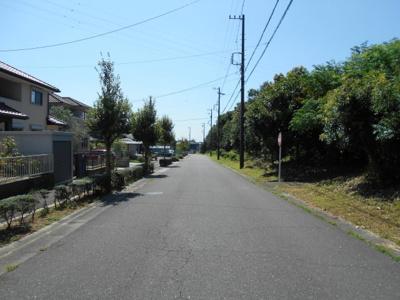 前面道路北側より