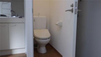 フェリスアースの落ち着いた色調のトイレです