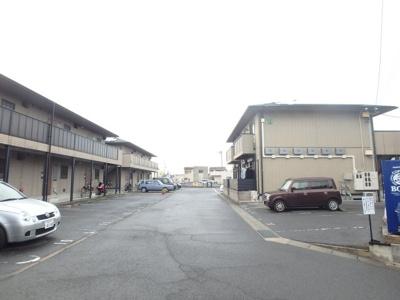 えとあシティC 倉敷市白楽町 賃貸アパート 駐車場