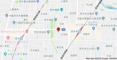 【地図】大手町マンション