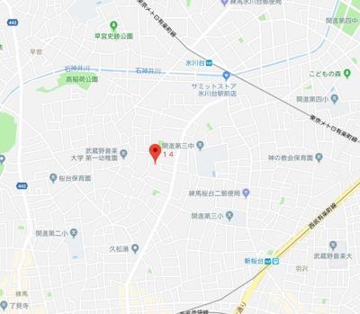 【地図】コンフォルタ桜台