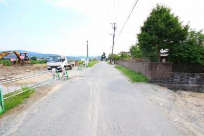 【前面道路含む現地写真】八女市祈祷院 土地
