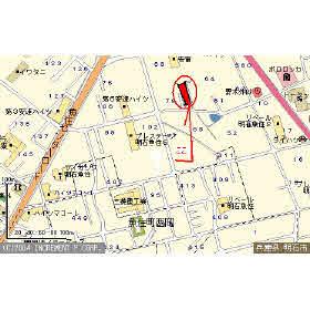 【地図】ハイツ安達
