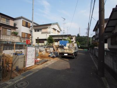 【前面道路含む現地写真】保土ヶ谷区新井町 全2棟新築戸建て【成約】