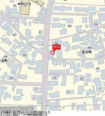 【地図】ハイムいわきA棟