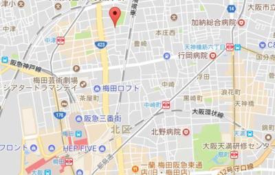 【地図】メゾン北梅田
