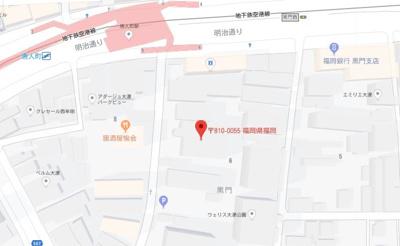 【地図】リオグランテージ大濠