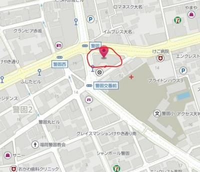 【地図】コスモ警固ロイヤルフォルム