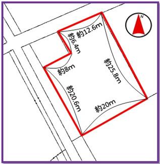 【区画図】うるま市栄野比(175.45坪)