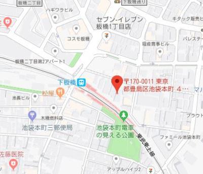 【地図】AXAS池袋本町