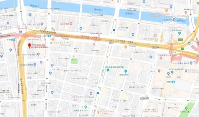 【地図】レオンコンフォート難波西