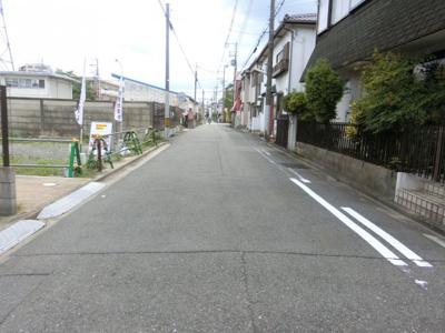 【現地写真】 前面道路幅員:5.5m