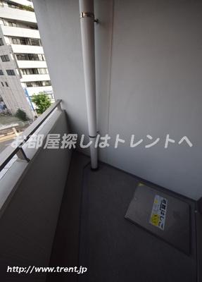 【バルコニー】パークキューブ八丁堀