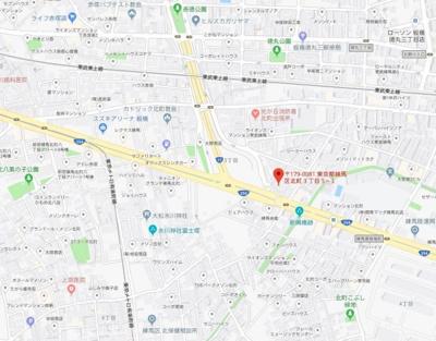 【地図】ブライズ練馬NORTH