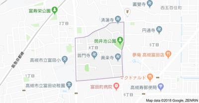 【地図】プリマ富田 (株)Roots