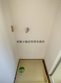 洗濯機が設置可能なスペースです。