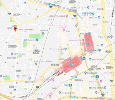 【地図】エステムコート梅田北