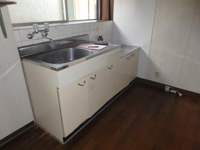 【キッチン】中島 借家