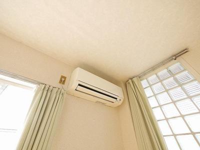 エアコンも設置されています。