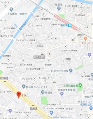 【地図】ラフィスタ中板橋
