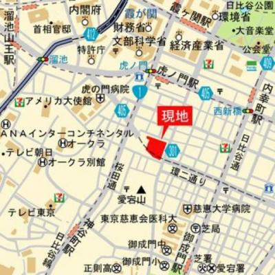 虎ノ門ヒルズレジデンスの地図