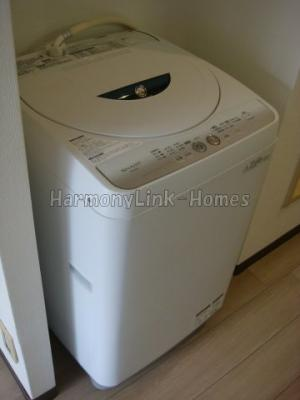 アベニティーⅡの洗濯機置き場スペース(家具・家電はサンプルです)☆