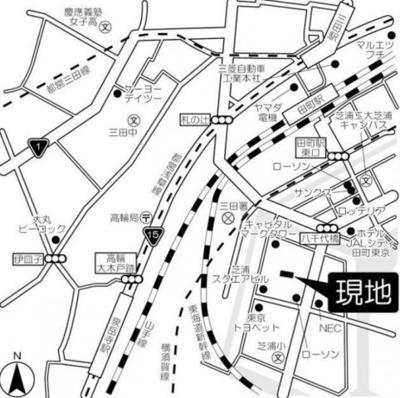 【地図】芝浦スクエアハイツ