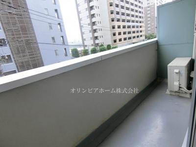 【バルコニー】新大橋永谷マンション 3階 空室 美室