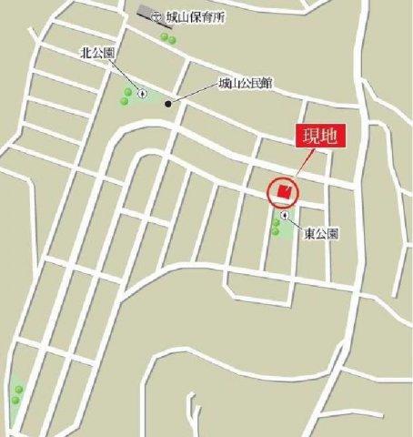 【地図】つくば市城山 売地