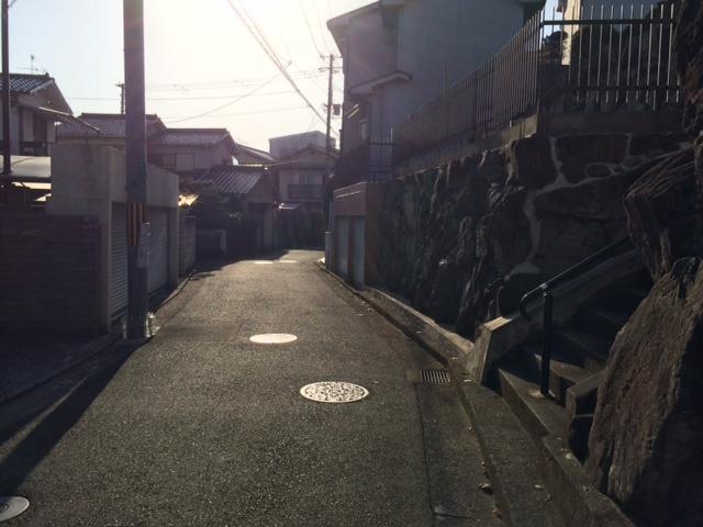 【前面道路含む現地写真】堺市西区北条町 売り土地