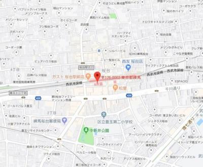 【地図】エルミタージュ桜台駅前