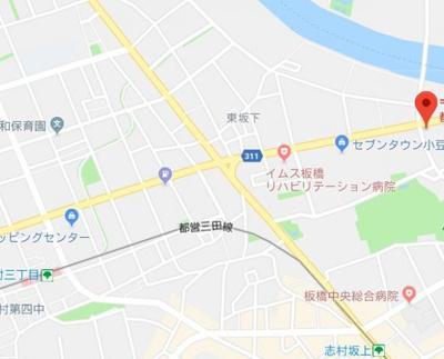 【地図】AXAS志村坂上