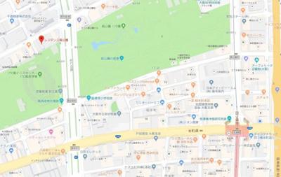 【地図】レジデンス靱公園