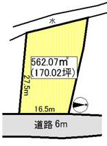 黒石市袋富山売地の画像