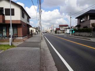 グランファミーロ今井 土地 蘇我駅 前面道路は歩道付き約15mとなっています!