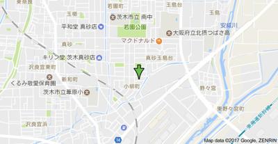 【地図】ルノン茨木
