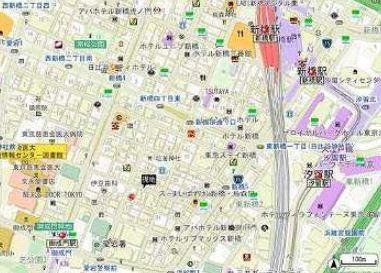 【地図】コート新橋