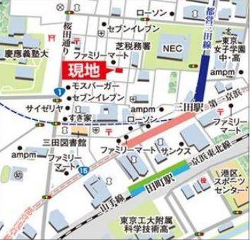 【地図】クリオ三田ラ・モード