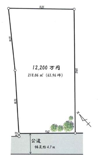 【土地図】鎌倉市小町2丁目 土地