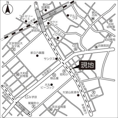 【地図】フローラ本駒込