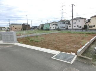 北東側の道路から撮影したA区画の写真です。