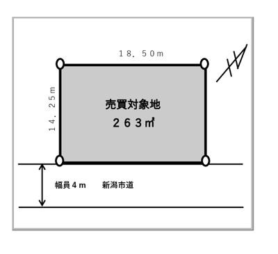 【区画図】新潟市西区五十嵐西土地