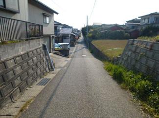 【前面道路含む現地写真】新潟市西区五十嵐西土地